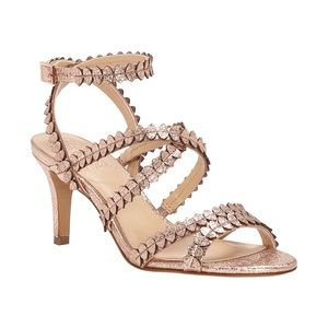 Vince Camuto rose gold Yuria strappy sandals